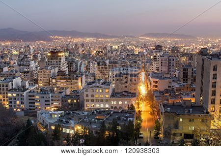 Tehran at night, Tehran, Iran