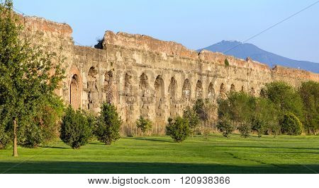 Ruins of Ancient Roman Aqueducts, Rome, Italy