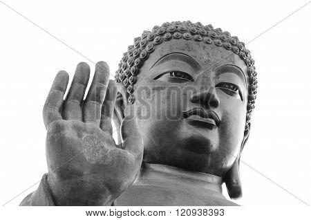 Big Buddha in Black & White, Lantau Island - Hong Kong