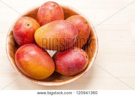 Five mango fruit