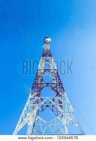 Communication Tower Over A Blue Sky Ii