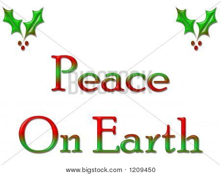 Greeting Card Peace On Earth