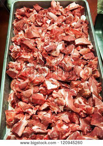Long Tray Of Pork Chop Bits