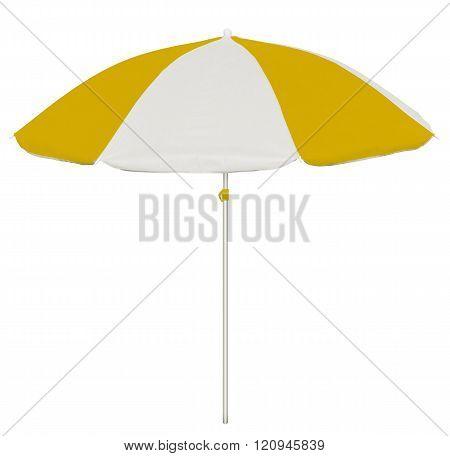 Beach Umbrella - Yellow And White