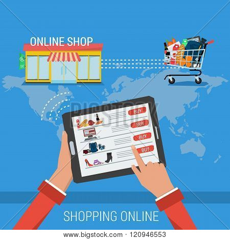 Concept Process Shopping Online
