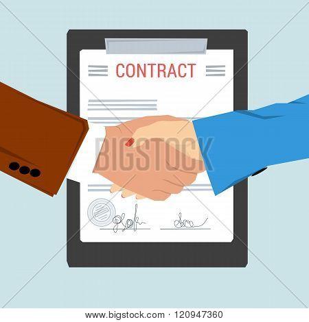 Handshake - On Background Contract Sheet