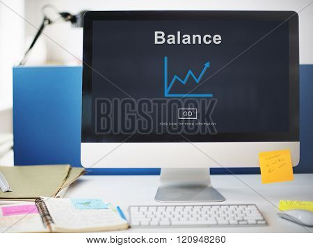 Balance Banking Growth Strategy Business Concept
