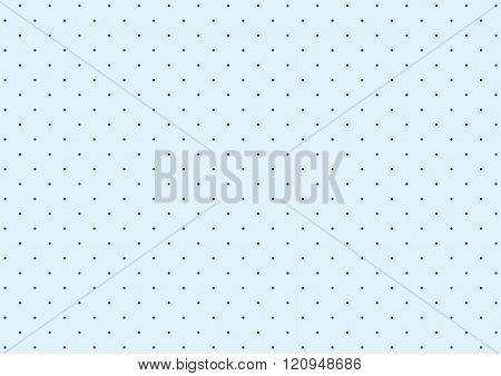 Simple polka dot pattern of blue and blue dots background