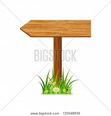 Vector wooden index on a white background