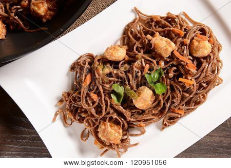 Japan Saba Noodles With Chicken And Vegetables