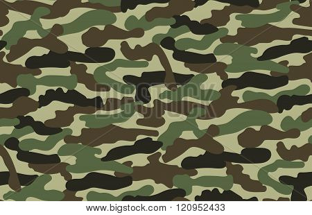 Abstract Military Camouflage Background.