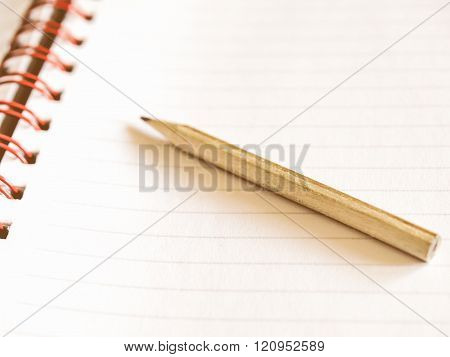 Blank Notebook Page Vintage