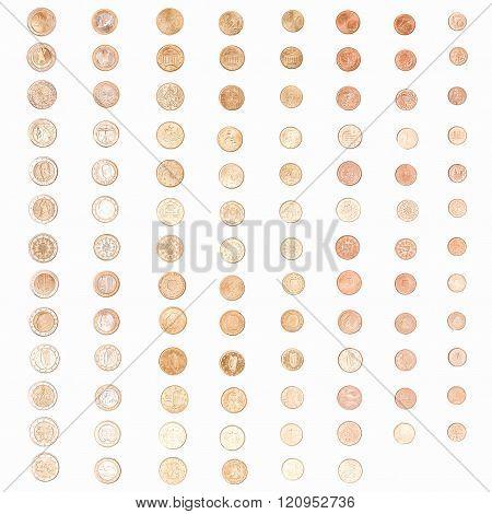 Euro Coin Money Vintage