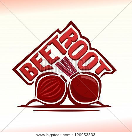 Vector illustration on the theme of beetroot