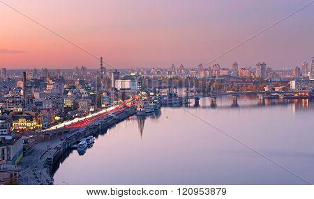 Kiev Aerial Cityscape, Ukraine