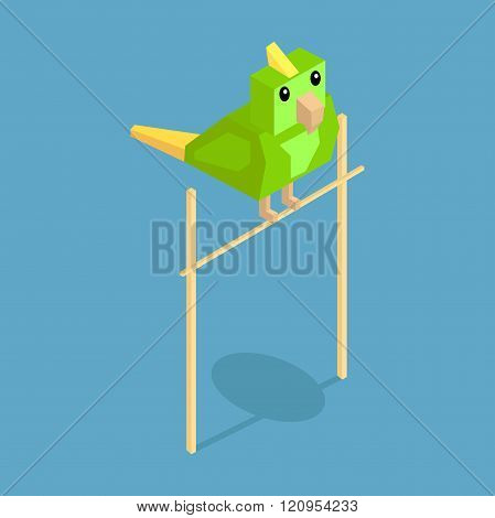 Pets Parrot Icon Isometric 3d Design