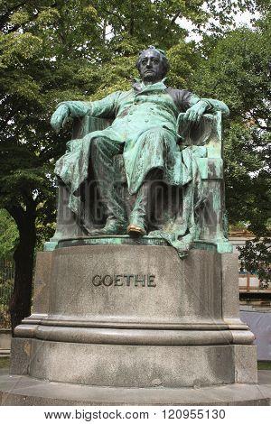 Vienna, Austria - Statue Of Author Johann Wolfgang Von Goethe (designed By Edmund He