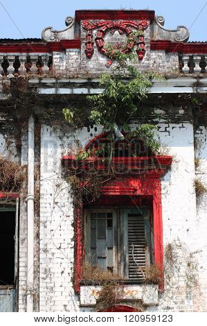 colonial building in the town of Yangon, Myanmar ** Note: Soft Focus at 100%, best at smaller sizes