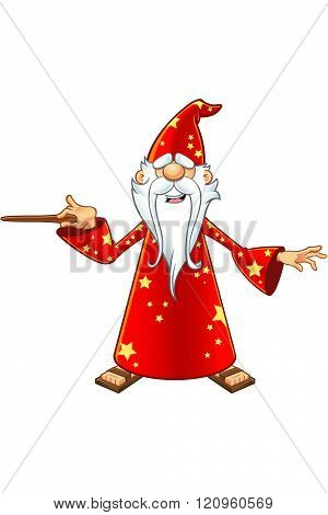 Red Old Wizard Character