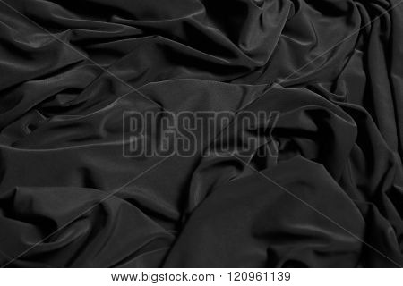 Black Background Abstract Cloth