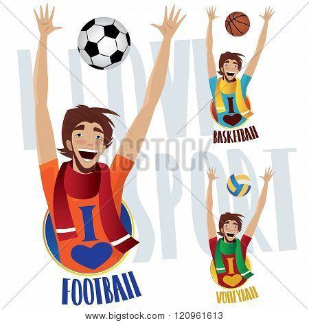 Happy Sports Fans