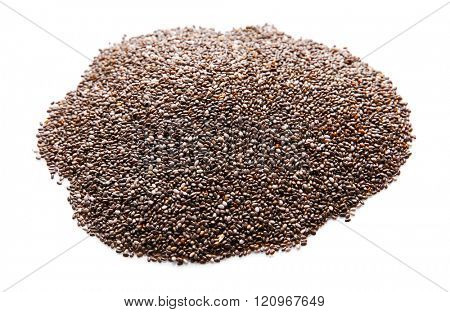 Chia seeds, isolated on white