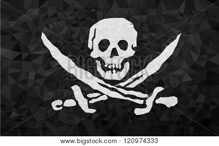 High polly pirat flag