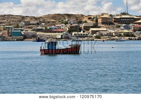 Fishing Ship In Luderitz Bay, Namibia