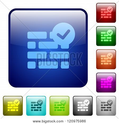 Color Active Firewall Square Buttons