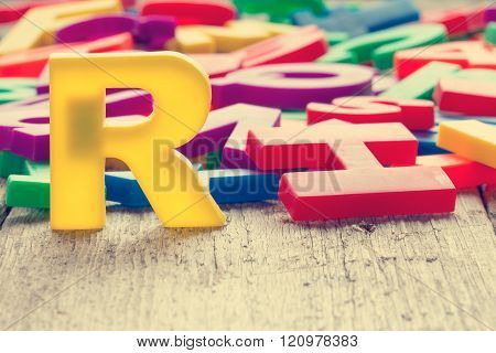 Letter R In A Front Of Other Letters