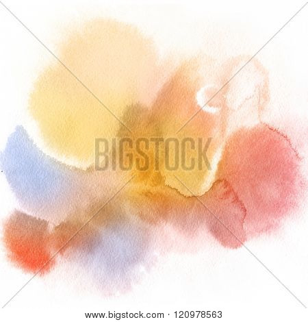 Abstract watercolor hand painted background. Pastel Colored Texture Gradient.