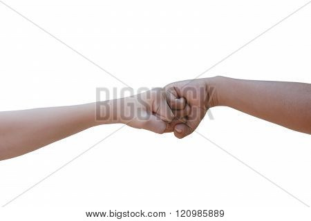 Hand To Punch Isolated