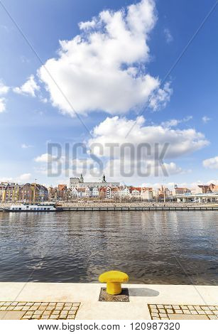 Szczecin, city by the river, Poland.