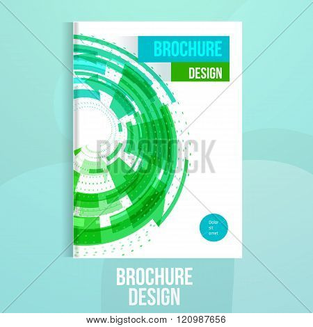Vector brochure design template with geometric abstract shapes.Business brochure design, flyer broch