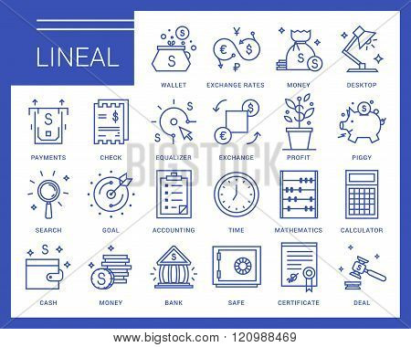 Line vector icons in a modern style.