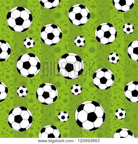 Green football pattern