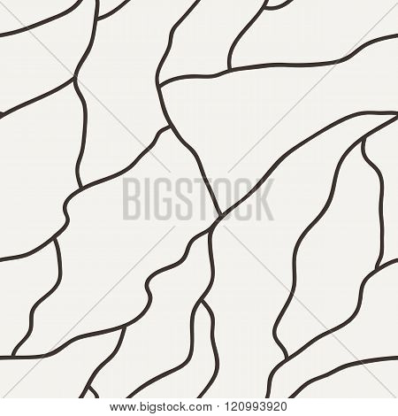 Vector seamless pattern of hand-drawn lines
