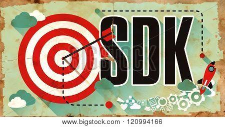 SDK Concept. Poster in Flat Design.