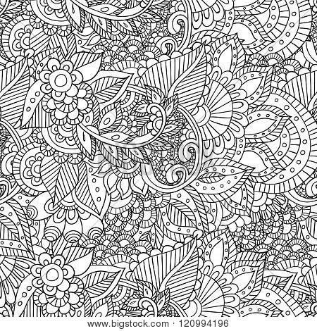 Abstract vector decorative ethnic floral colorful