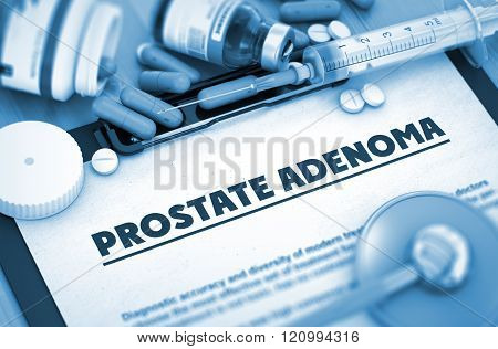 Prostate Adenoma. Medical Concept.