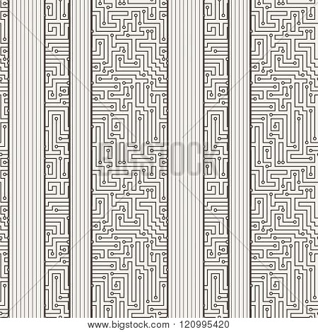 Vector seamless pattern in the form of a labyrinth