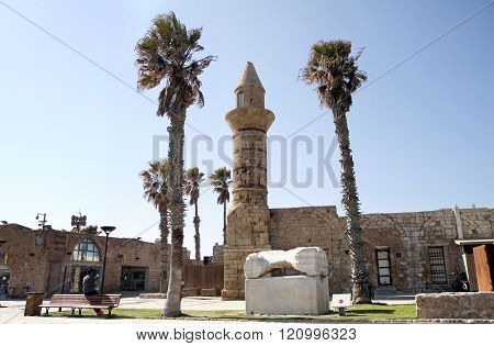 Bosnian Mosque In The National Archaeological Park Caesarea