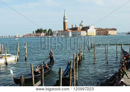 Grand  Canal The Beautiful Embankment In Venice