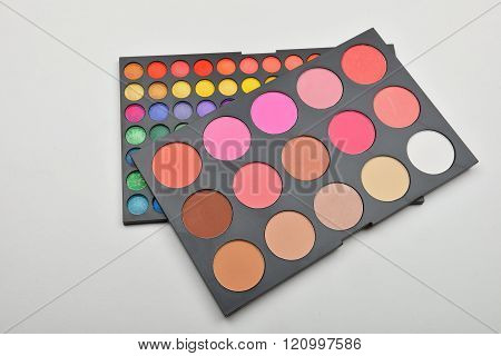 Picture Of Professional Makeup Colorful Eyeshadow And Face Shadow Palettes.care And Beauty. Selectiv