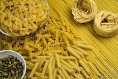 Постер, плакат: Different Types Of Pasta