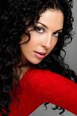 picture of black curly hair  - Gorgeous Woman - JPG