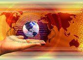 Global Computer Technology Concept