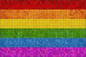Постер, плакат: Gay Pride Mosaic Flag eps