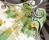 picture of transpiration  - abstract floral grunge background - JPG