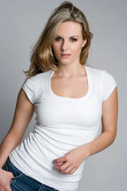 picture of beautiful young woman  - Pretty Young Woman - JPG
